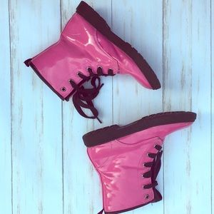 Iloveyokids brand hot pink rain boots kids girls 1